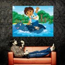 Go Diego Go Kida Art Cartoon Huge 47x35 Print Poster