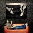 Hot Gothic Girl Sexy Lingerie Stocking Huge 47x35 Print Poster