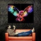 Fractal Owl Flight Amazing Art Huge 47x35 Print Poster