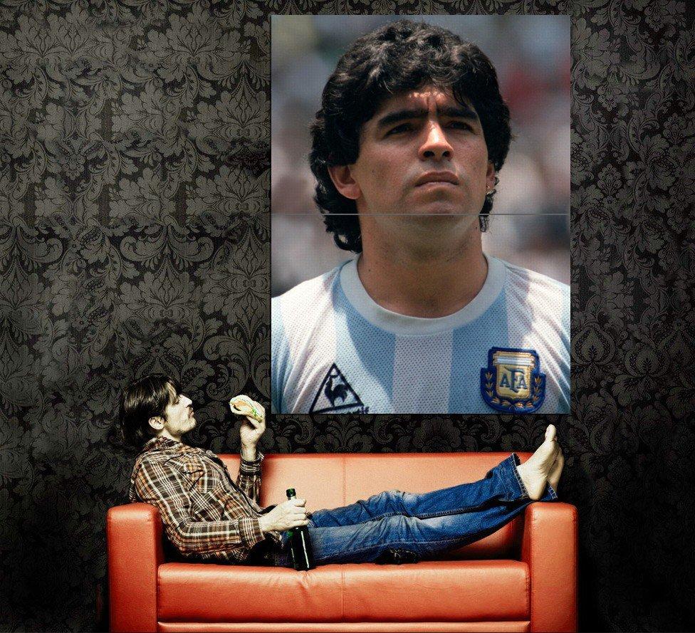 Diego Armando Maradona Football Legend Huge 47x35 Print Poster