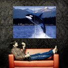 Killer Whale Jump National Geographic Huge 47x35 Print Poster