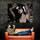 Kat Von D Tattoos Hot Girl Huge 47x35 Print Poster