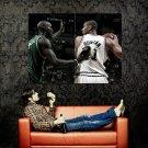 Tim Duncan Vs Kevin Garnett NBA Huge 47x35 Print Poster