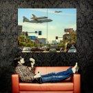 Endeavour Shuttle LA California NASA Huge 47x35 Print Poster