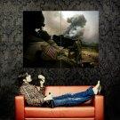 Military Soldier War Machine Gun Huge 47x35 Print Poster