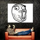 LOL Face Internet Meme Art Huge 47x35 Print Poster