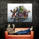 The Avengers Kids Cool Art Huge 47x35 Print Poster