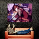 Sleeping Girl Drawing Anime Art Huge 47x35 Print Poster