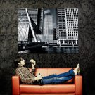Canary Wharf England London UK Cityscape Huge 47x35 Print Poster