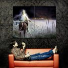 Horseman Burning Village Fantasy Art Huge 47x35 Print Poster