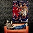 Reggie Miller Vs Michael Jordan NBA Huge 47x35 Print Poster