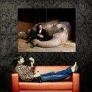 Robert Pattinson Elephant Movie Actor Huge 47x35 Print Poster