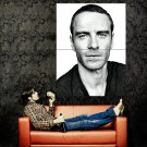 Michael Fassbender Portrait BW Movie Actor Huge 47x35 Print Poster