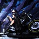 Black Rock Shooter Bike Anime Manga Art 32x24 Print POSTER