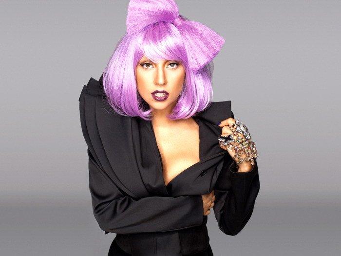 Lady Gaga Purple Hair Music Singer 32x24 Print POSTER