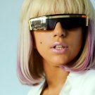 Lady Gaga Hot Singer Portrait Glasses Music 32x24 Print POSTER
