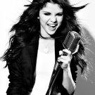 Selena Gomez Hot Singer Music BW 32x24 Print POSTER