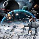 Star Wars Hoth Epic Battle At At Art 32x24 Print POSTER