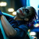 Joker The Dark Knight Car Movie Painting Art 32x24 Print POSTER
