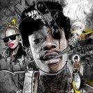 Wiz Khalifa Smoke Hip Hop Art 32x24 Print POSTER