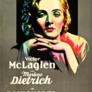 Marlene Dietrich Dishonored Actress Vintage Movie 32x24 Print POSTER