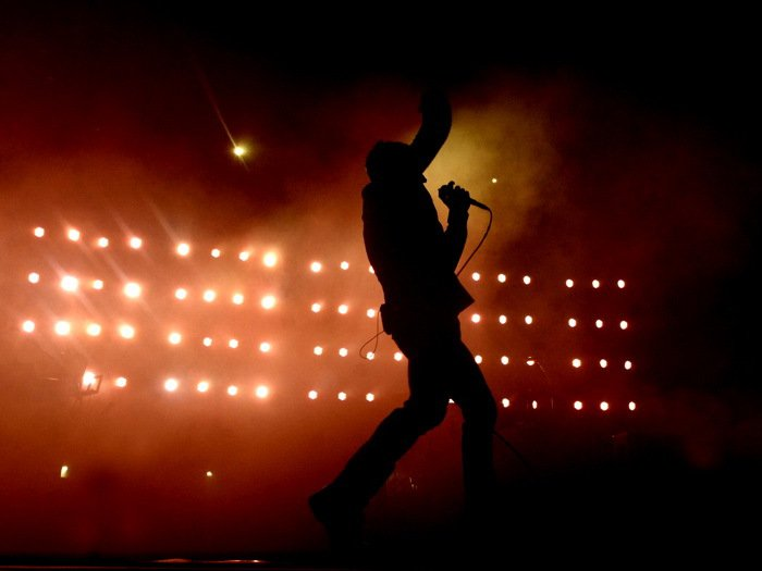 Nine Inch Nails Live Silhouette Music 32x24 Print POSTER