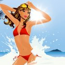 Hed Kandi Hot Bikini Girl Wave Sun Art Music 32x24 Print POSTER