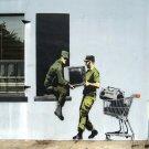 Looting Soldiers Banksy Graffiti Street Art 32x24 Print POSTER