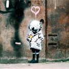Little Girl Scuba Banksy Graffiti Street Art 32x24 Print POSTER
