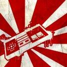 Japanese Flag Nintendo NES Controller Art 32x24 Print POSTER