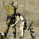 Girl Search Soldier Banksy Graffiti Street Art 32x24 Print POSTER