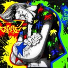 Franky Colors Splashes Cool Art 32x24 Print POSTER