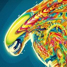 Colorful Alien Creative Cool Style Art 32x24 Print POSTER