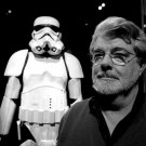 George Lucas Director Star Wars Stormtrooper BW 32x24 Print POSTER