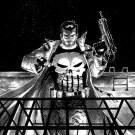 The Punisher Uzi Grenades Marvel Comic Art 32x24 Print POSTER