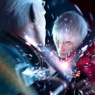 Dante Swords Sparks Devil May Cry Art Video Game 32x24 Print POSTER