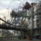 War Of The Worlds Steampunk Tripods Art 32x24 Print POSTER