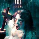 Gothic Vampire Girl Crucifix Art 32x24 Print POSTER