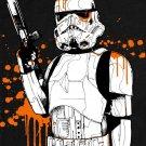 Clone Stormtropper Star Wars Colour Splashes Art 32x24 Print POSTER