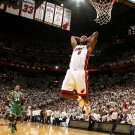 Lebron James Slam Dunk Miami Heat NBA Basketball Sport 32x24 Print POSTER