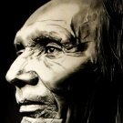 Painting BW Art Native American Indians 32x24 POSTER