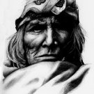 Native American BW Drawing Art Indians 32x24 POSTER