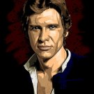 Han Solo Portrait Art Star Wars Harrison Ford Action Movie 32x24 POSTER