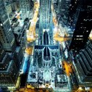 St Patrick S Cathedral Madison Avenue Rockefeller Center 32x24 POSTER