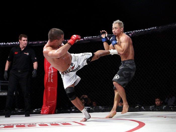 Jong Man Kim Vs Aaron Steele MMA 32x24 Print POSTER
