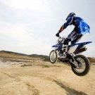 Yamaha Hang Time Jump Motocross Bike 32x24 Print POSTER