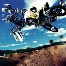 Suzuki Abstraction Jump Motocross Bike 32x24 Print POSTER