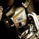 Yamaha Shiny Engine Classic Bike 32x24 Print POSTER