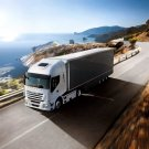 Iveco Stralis White Cab Truck Trailer 32x24 Print POSTER