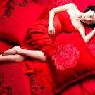 Hot Asian Babe Sexy Red Dress 32x24 Print POSTER